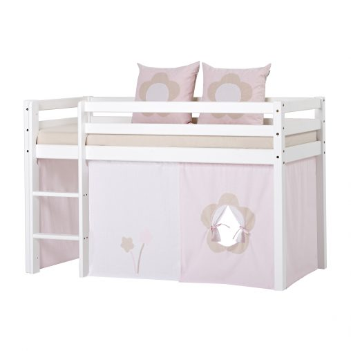 Hoppekids Curtain for Half high- and Bunkbed, Parfait Pink