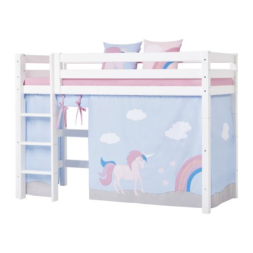 Curtain for midhigh bed, 90×200 cm, Unicorn