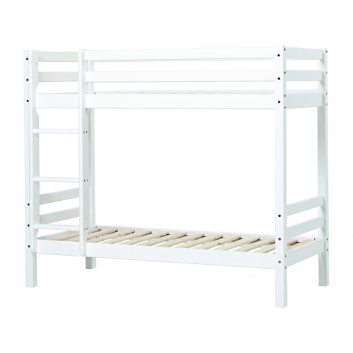BASIC bunkbed with ladder, non-divisible, 70x190 cm, white