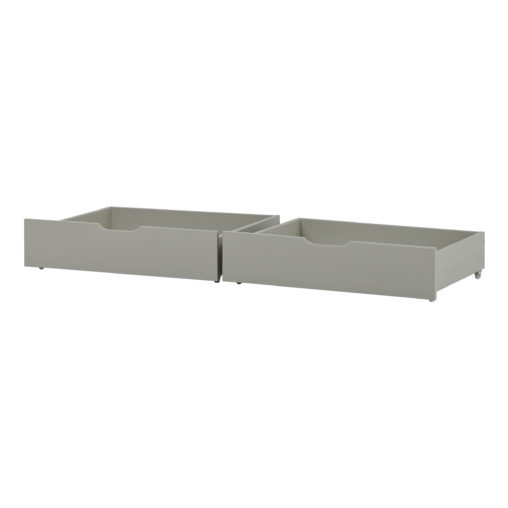 Drawer set on wheels 2 pcs. For 70 x 160, Dove Grey