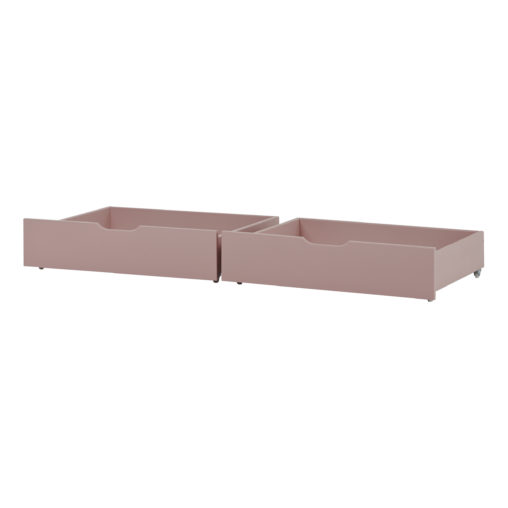 Drawer set on wheels 2 pcs. For 70 x 160, Pale Rose