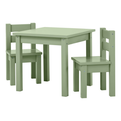 BUNDLE MADS Table and two Chairs – Pale Green, Pale Green