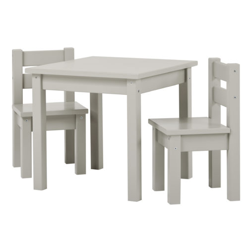 BUNDLE MADS Table and two Chairs – Dove Grey, Dove Grey
