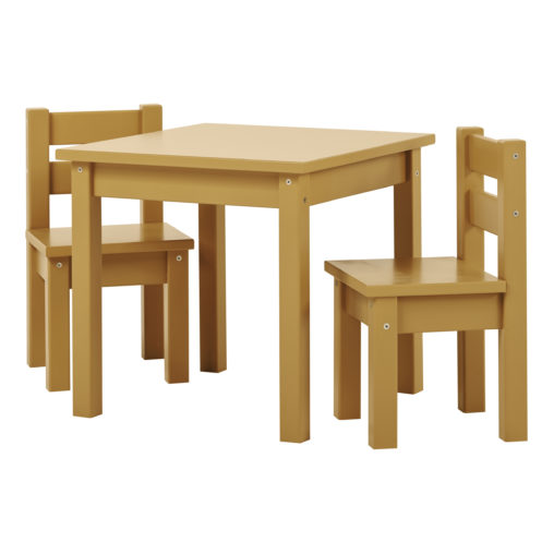 BUNDLE MADS Table and two Chairs – Autumn Yellow, Autumn Yellow
