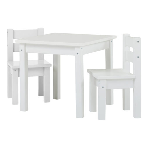 BUNDLE MADS Table and two Chairs – White, White
