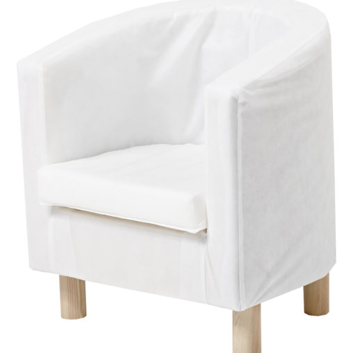 Hoppekids Club chair with cover, White