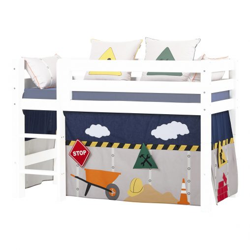 Curtain for halfhigh and bunk beds, 70×160 cm, Construction
