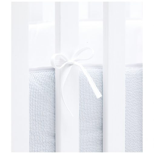 Cradle bumper, Baby blue, striped