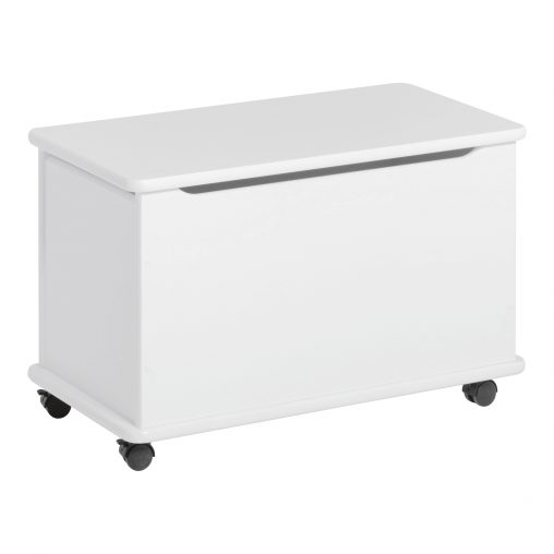 Hoppekids playchest with wheels, White, White