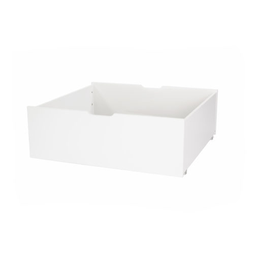Hoppekids DELUXE Drawer on wheels – with divider, White, White