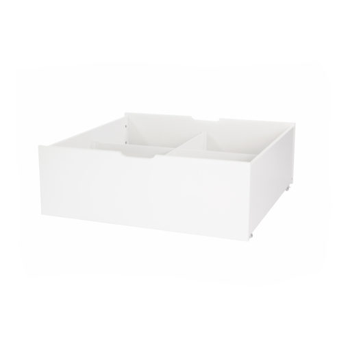 Hoppekids DELUXE Drawer on wheels – with divider, White