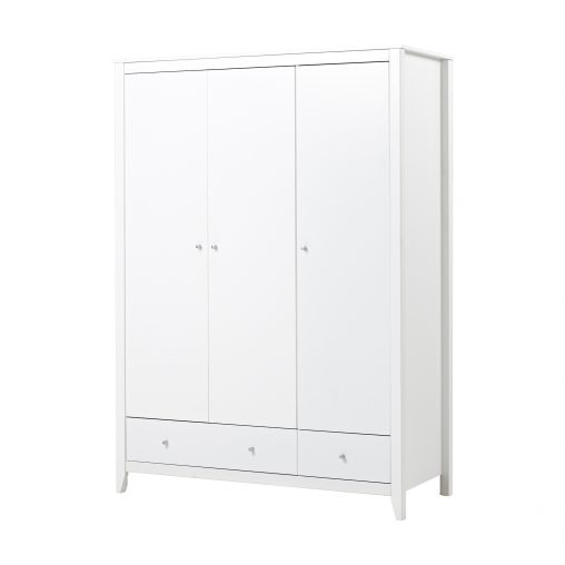 Hoppekids wardrobe with 3 doors and 2 drawers, White