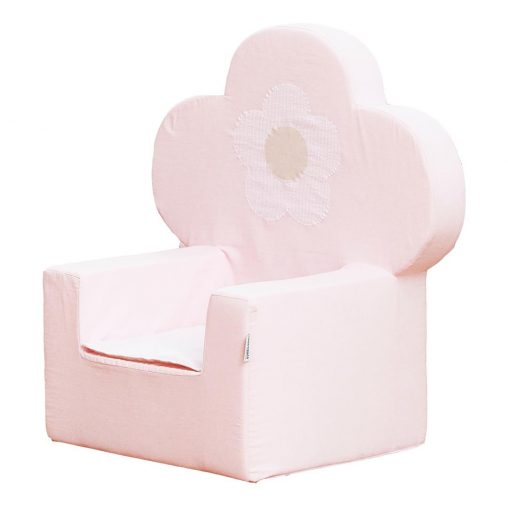 Hoppekids Foam chair with flower, Parfait Pink