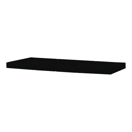 4-split mattress for the JUMBO BED, Black, plain cover