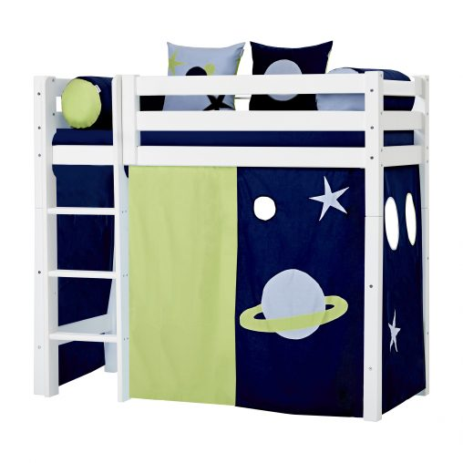 vorhang f r mittel hoch bett 70x160 cm hoppekids. Black Bedroom Furniture Sets. Home Design Ideas