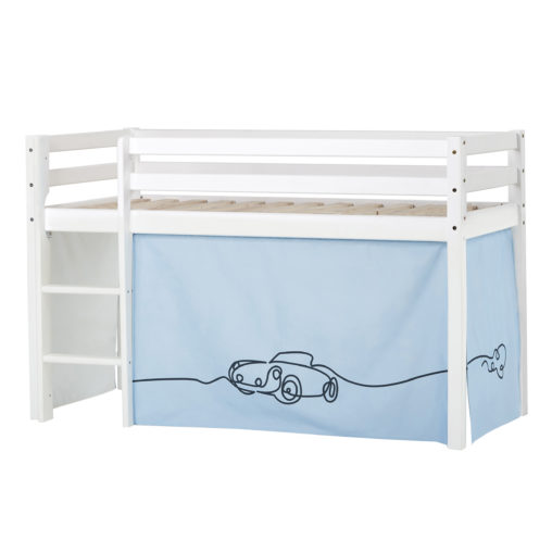 BUNDLE Basic Halfhigh bed  Non-Dividable with Cars curtain,