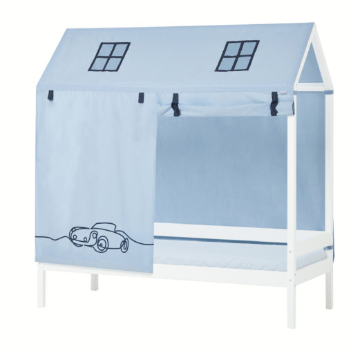 Hoppekids CARS Roof curtains for Housebeds 70 x 160 cm, Dream Blue