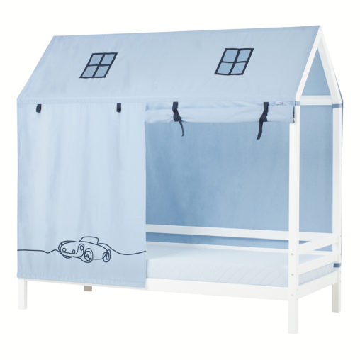 Hoppekids CARS Roof curtains for Housebeds 90 x 200 cm, Dream Blue