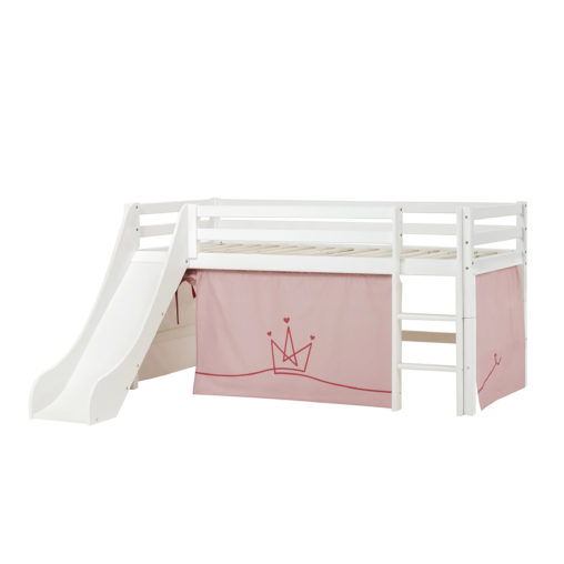BUNDLE Basic Halfhigh bed  with Slide and Princess curtain,