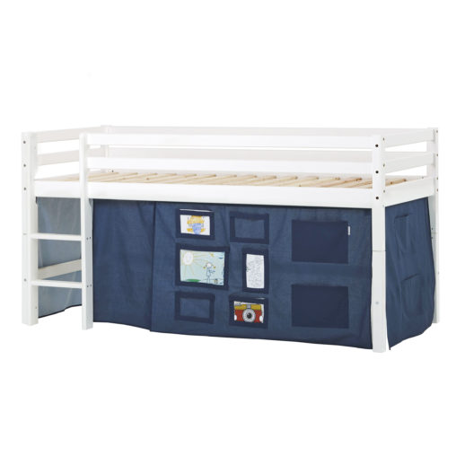 BUNDLE Basic Halfhigh bed  with Creator Orion Blue curtain, Orion Blue