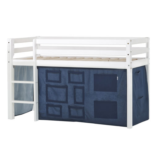 BUNDLE Basic Halfhigh bed  Non-Dividable with Creator Orion Blue curtain, Orion Blue