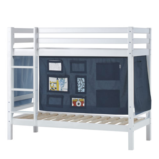 BUNDLE Basic Bunkbed  Non-Dividable with Creator Orion Blue curtain, Orion Blue