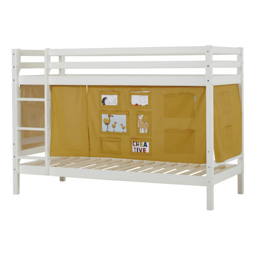 BUNDLE Basic Bunkbed  Non-Dividable with Creator Autumn Yellow curtain, Autumn Yellow