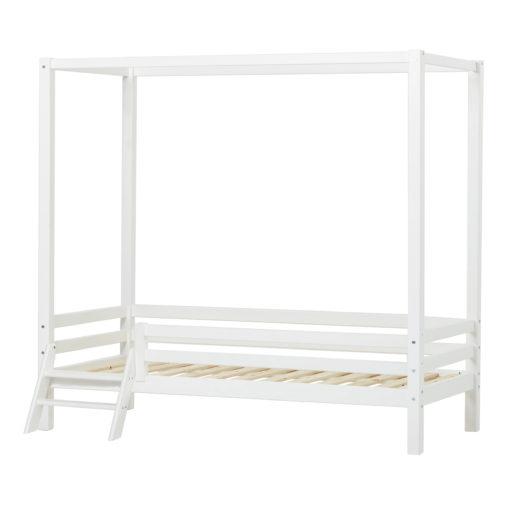Hoppekids BASIC Canopy bed with ladder 90 x 200, White