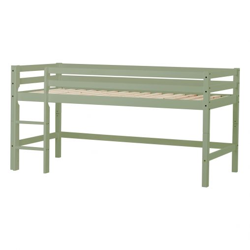 Hoppekids BASIC My Color half high bed, Pale Green