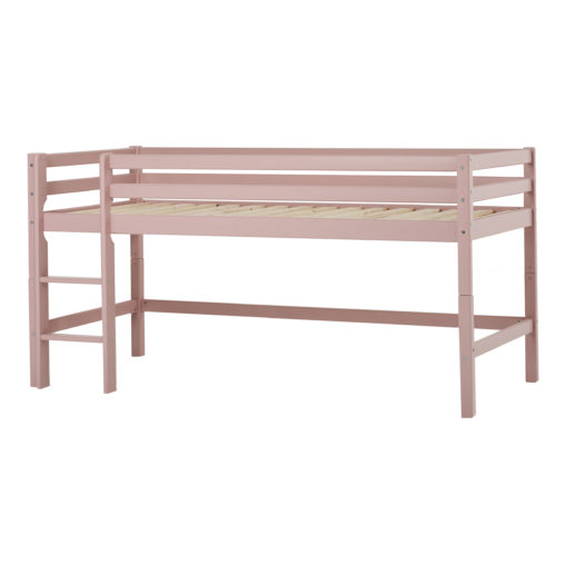 Hoppekids BASIC half high bed 70x190cm, White, Pale Rose