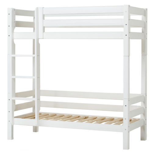 Hoppekids PREMIUM Bunk bed  with slant ladder, White