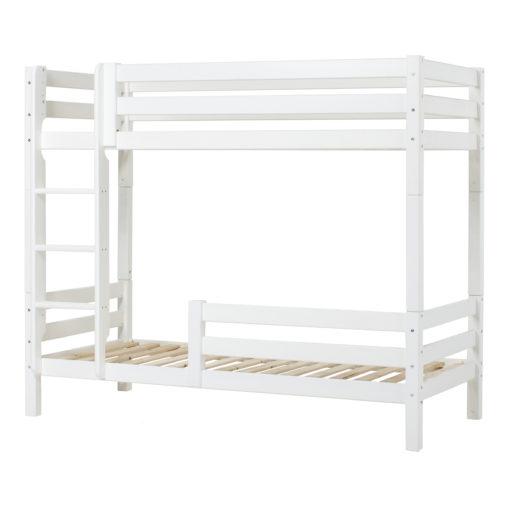 Hoppekids PREMIUM High bunkbed with ladder and safety rail 1/2, White