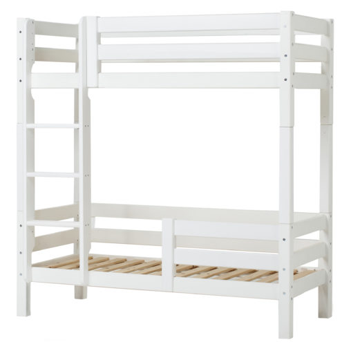 Hoppekids PREMIUM High bunkbed with ladder and safety rail 1/2 90 x 200, White