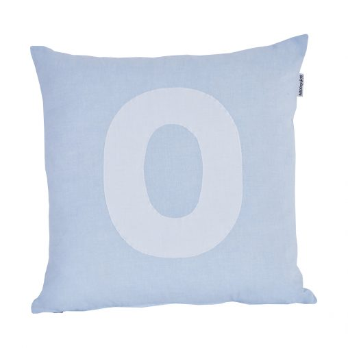 Alphabet Pillow, Big, Baby Blue, O