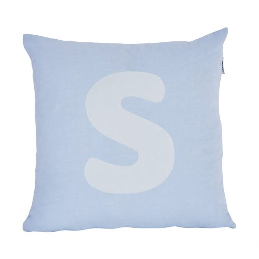 Alphabet Pillow, Big, Baby Blue, S