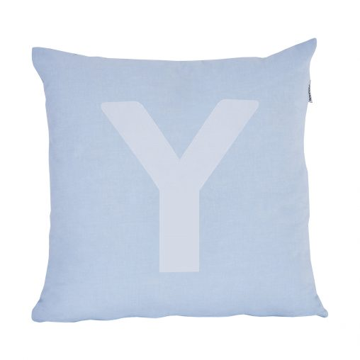 Alphabet Pillow, Big, Baby Blue, Y