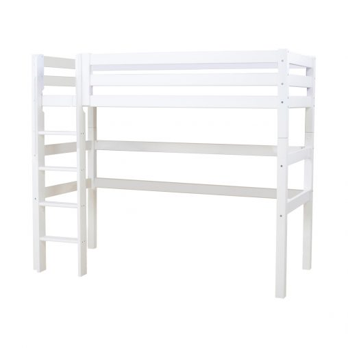 PREMIUM Highbed with ladder, White