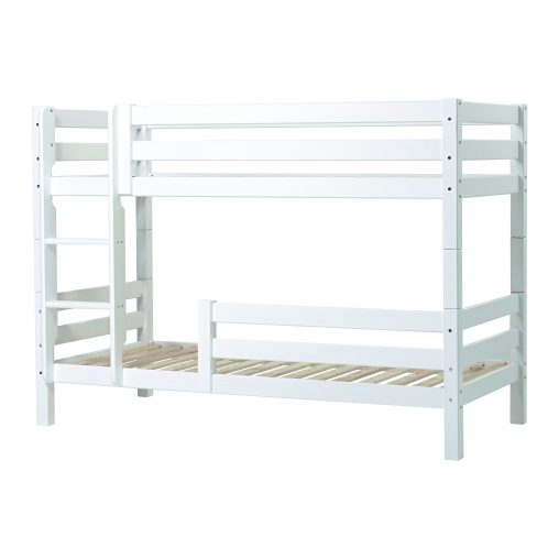 PREMIUM Bunkbed with ladder and Safety rail 1/2, White
