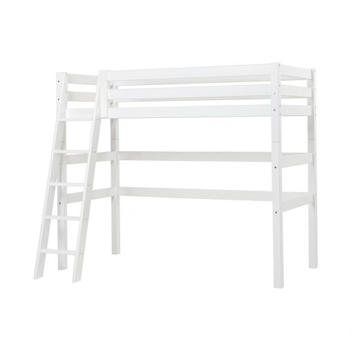 PREMIUM highbed with slant ladder, White