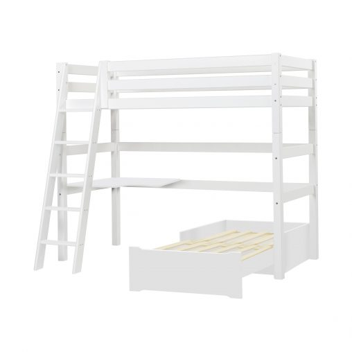 Hoppekids PREMIUM MEGA bed  with slant ladder, White